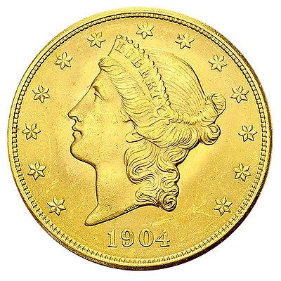 20 Dollar Gold Liberty Head Double Eagle USA 1849-1933 Goldmünze