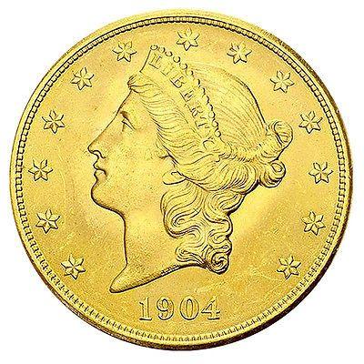20 Dollar Gold Liberty Head Double Eagle USA 1849-1933 Goldmünze