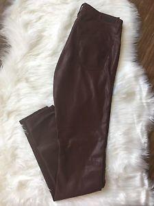 Blank NYC Faux Leather Women's Skinny Pants  Burgundy  Size 26  | eBay