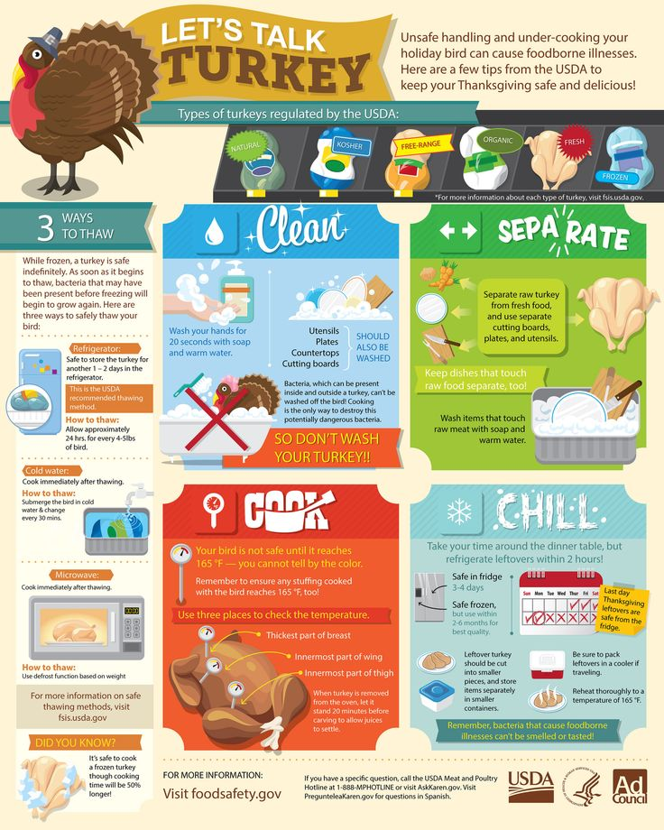 Thanksgiving Food Safety Food safety infographic, Food