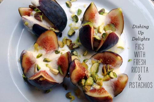 Figs with fresh ricotta & pistachios! | Tasty | Pinterest