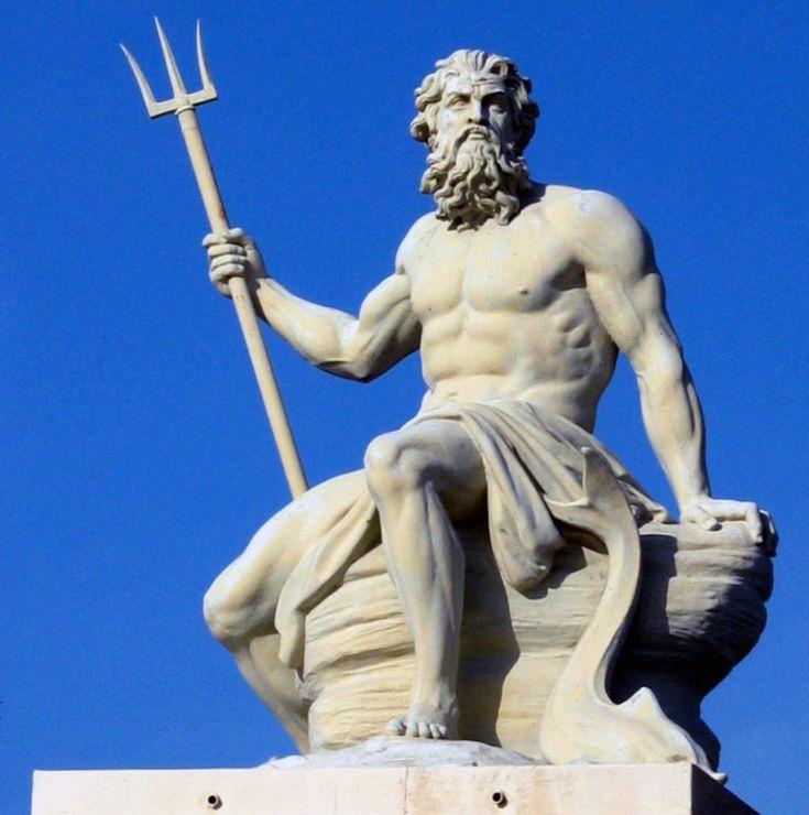 Poseidon/Neptune sculpture in Copenhagen Port. Poseidon was the god of the sea.
