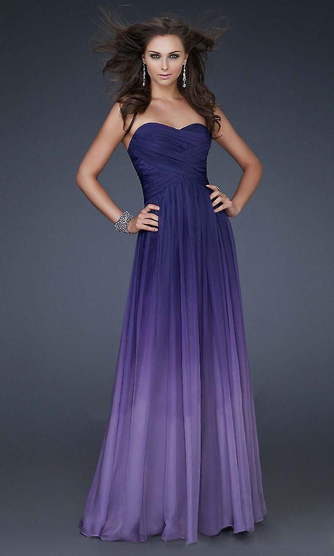 Purple violet gradient dress