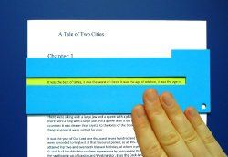 Reading guides isolate text line by line making reading easier for students.