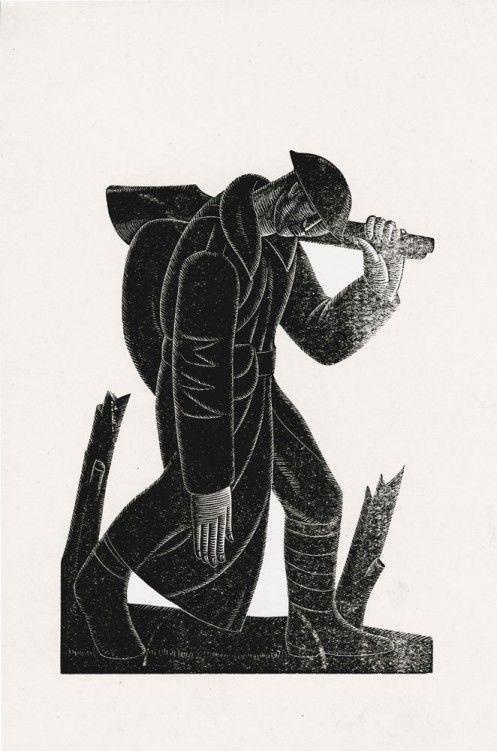 Eric Gill - Westward Ho. - 1921
