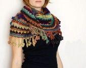 Schialle crochet : Sciarpe, foulard, cravatte di naftalina
