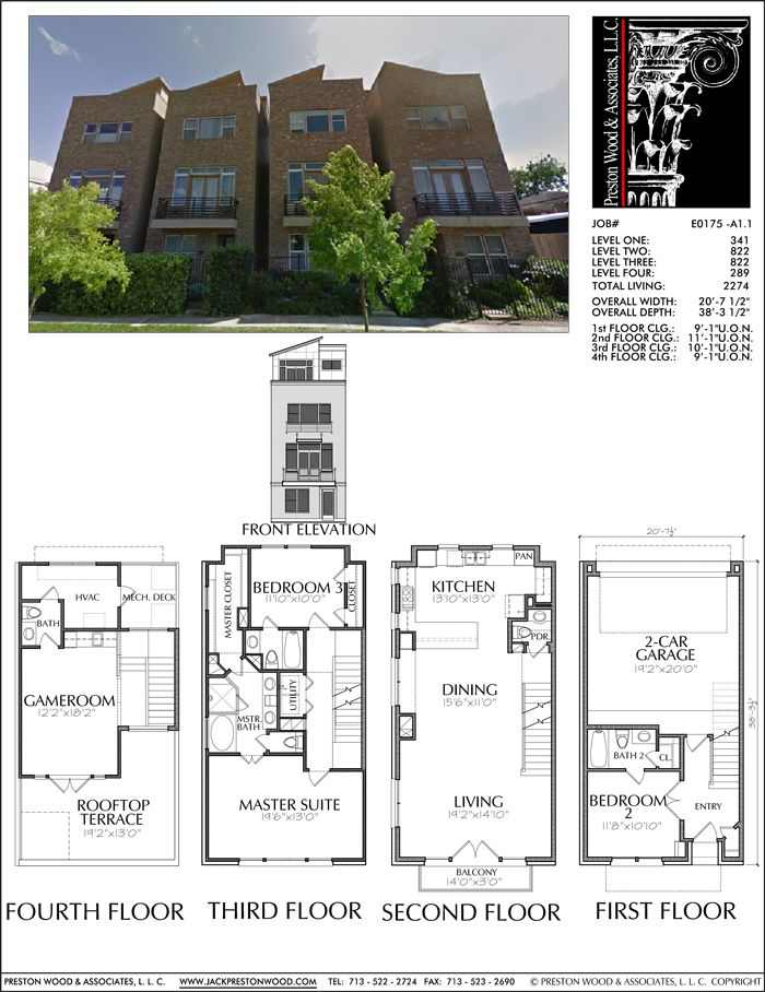 Townhouse Plan E0175 A1 1 House Plans Pinterest Master Bedrooms Townhouse And The O 39 Jays