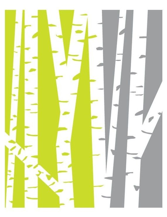 Green and Gray Forest | Priss Designs