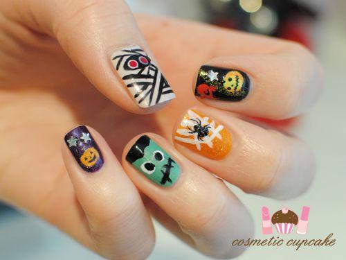 Cute Halloween Nail Art!