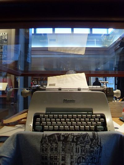 Michener's typewriter at the Michener Museum, Doylestown, Pennsylvania. #reading #writing, #books #authors #michener