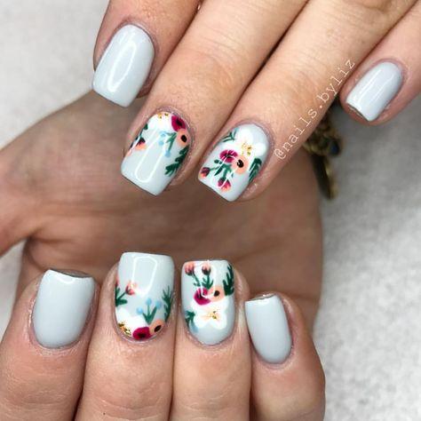 """372 Likes, 17 Comments - Liz Henson (@nails.byliz) on Instagram: """"Ummm yes ❤️❤️❤️ . . . . #nails #acrylicnails #nailstagram #floralnails #gelpolish #summer…"""""""