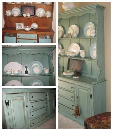 Robin egg blue hutch