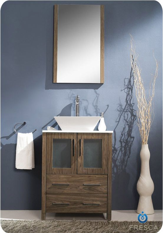 24 Bathroom Vanity With Vessel Sink 32 Modello Single Vessel