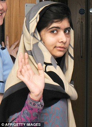 """Malala recovering after 'successful' five-hour operation to fit skull with titanium plate and have an ear implant   Medical team 'very pleased' with schoolgirl's progress following surgery  She was shot at point-blank range in October for standing up for women's rights and access to education. She has been nominated for Nobel Peace prize."""" #herstory #women's #History"""