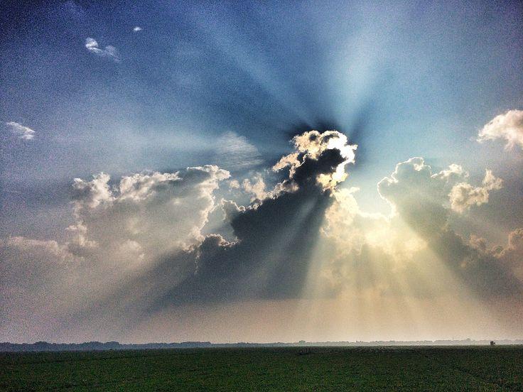 Eemnes, Eempolder. Dutch sky.