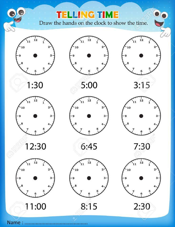 Image result for time worksheet for kindergarten pdf