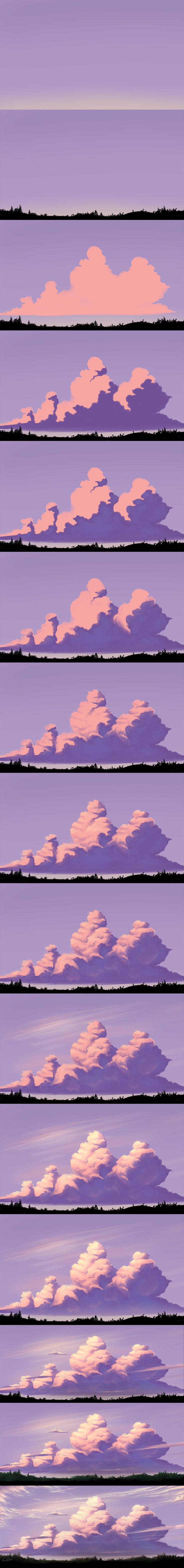 Digital vector art illustration; concept art nature scenery // So cool I don't know why I love it so much but I should try this in my art class!!!!