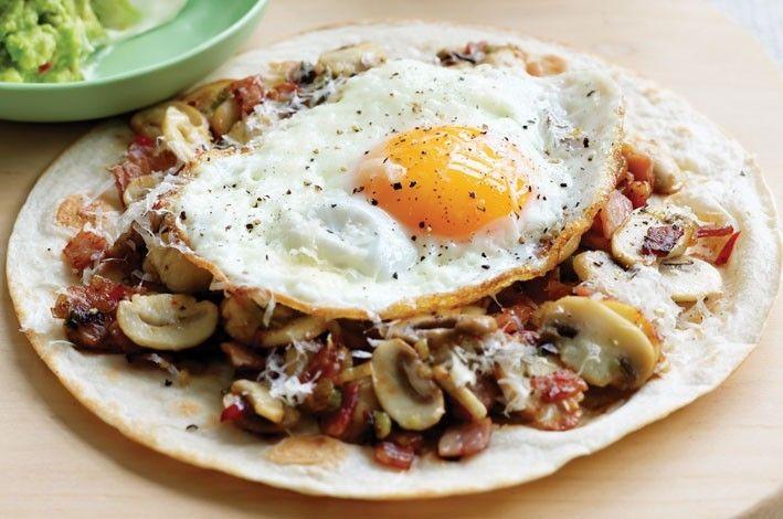 Mushroom Breakfast Tortilla