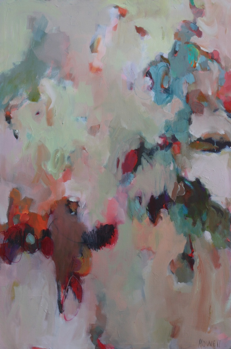 Bird Song by Joyce Howell  #art #abstract: Painting Inspiration, Abstract Art Reds, Art Abstract, Bird Vocabulary