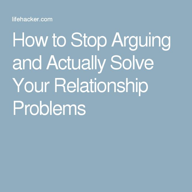 how to stop constant fighting in a relationship