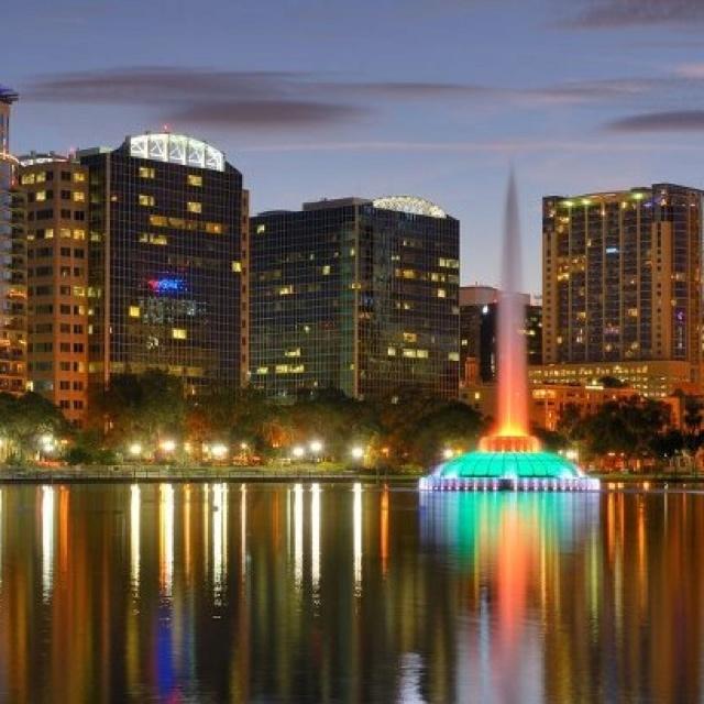 Lake Eola Fountain - Downtown Orlando, Florida.