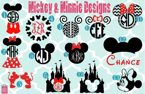 Mickey or Minnie kids monogrammed shirt by iluvmonograms2 on Etsy