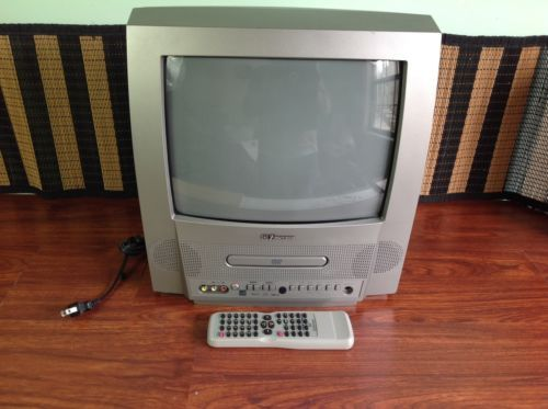 "Emerson TV/DVD Color Television 13"" CRT / Home Office Video Model WC13D4"