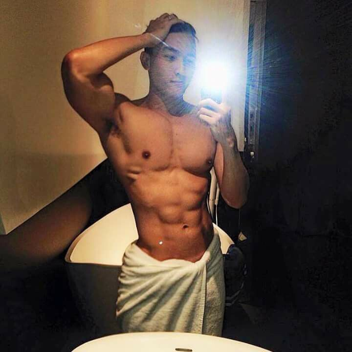 Chan Than San After Shower Selfie  Muscle Selfie -2455