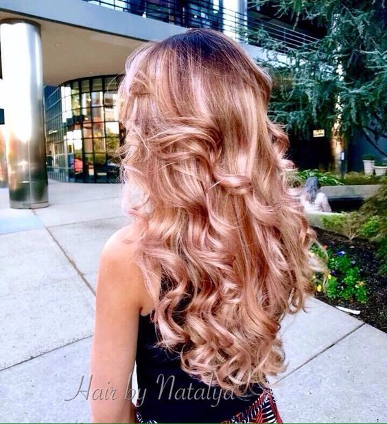 Rose gold colored hair Ombre! – Style