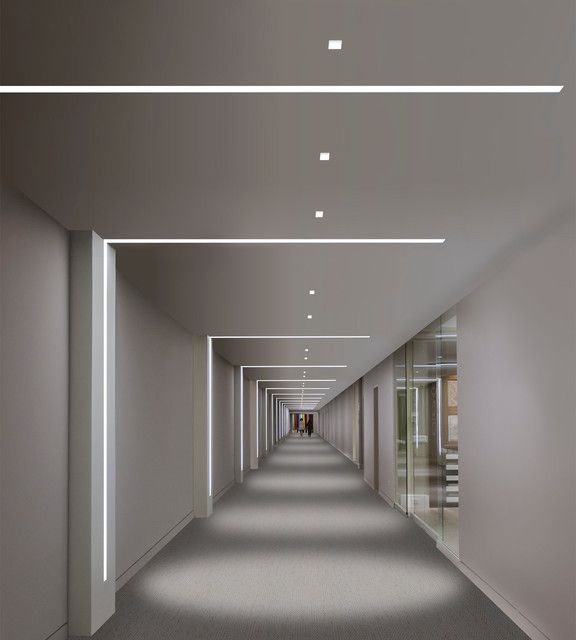 Linear light fixtures, hallway, wall mounted, modern interior design Lighting Pinterest ...