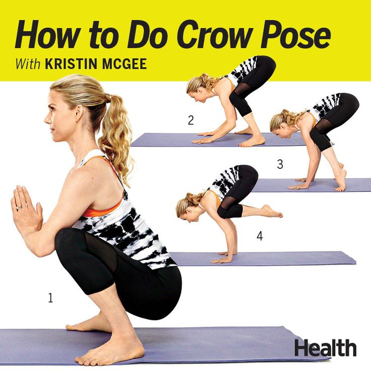 We love Crow pose, and not just because it sculpts your arms, legs and entire midsection. It's so much fun to take flight. (Avoid it if you have upper-body injuries, though.)