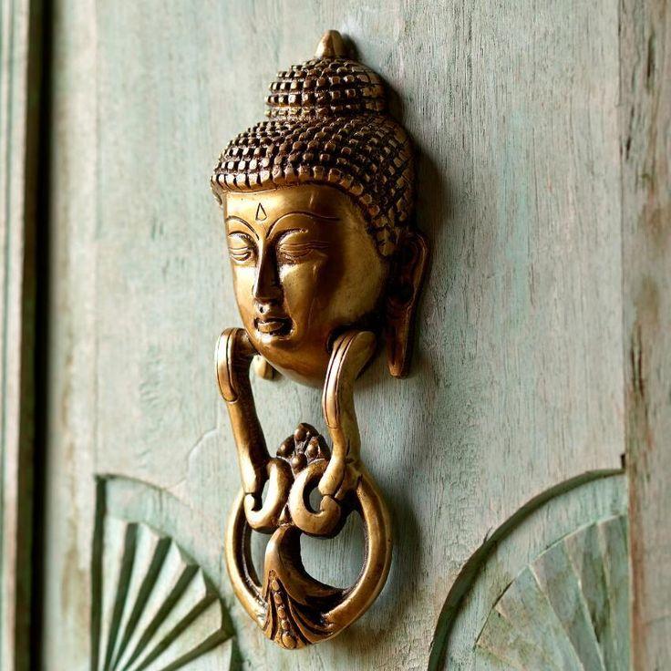 Buddha Brass Door Knocker ~ Hand-Crafted by artisans in India via  www.worldmarket - Best 25+ Brass Door Knocker Ideas On Pinterest Antique Brass