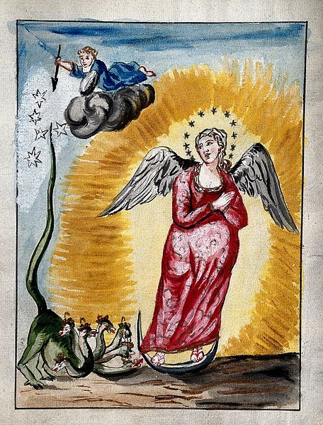 File:The pregnant Virgin Mary, with a dragon at her feet; represe Wellcome, London.1772: