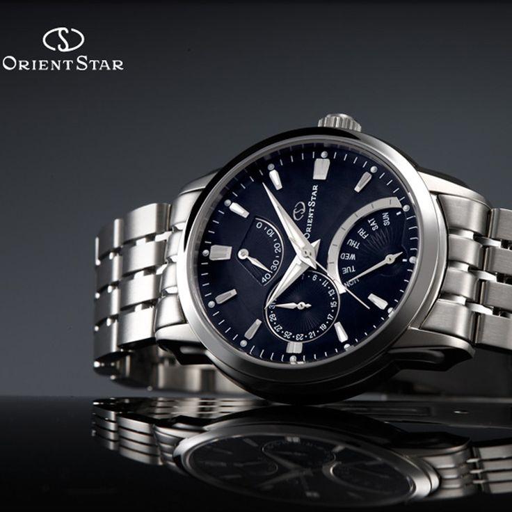 Zegarek Orient Star  Klasyczny, męski zegarek od japońskiej marki słynącej z produkcji czasomierzy wyposażonych w automatyczne mechanizmy.  #zegarki #zegarek #orient #star #minuta #japońskiezegarki