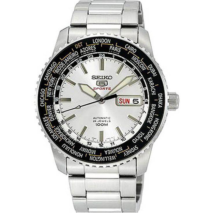Seiko 5 Sports Automatic World Time Watch SRP123J1