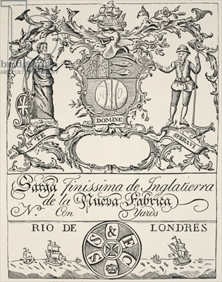 Trade Label of the South Sea Company (engraving)