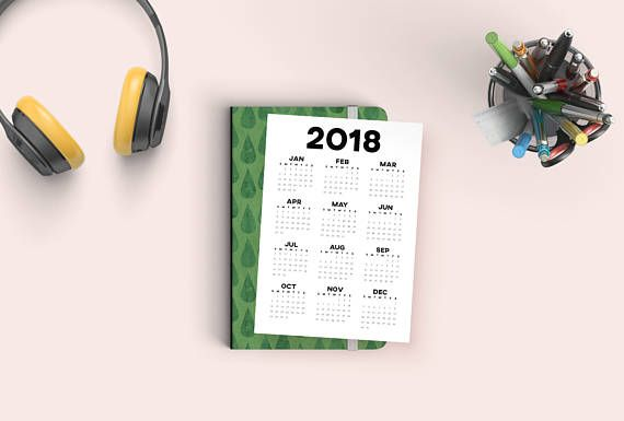 Let this minimalist 2018 printable calendar brighten up your home or office. WHAT YOU GET: - 1 A5/A4/A3 format PDF - 1 US Letter format PDF - Both are high resolution PDF files - Please note this is a digital download, not a physical print - no physical products will be mailed to you.
