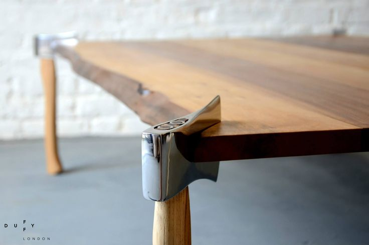 Waney Edge Woodsman Axe Coffee Table by Duffy London
