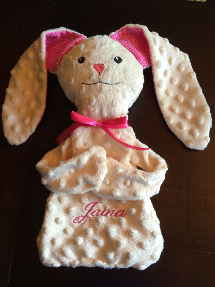 Lovey, bunny, in the hoop, machine embroidery