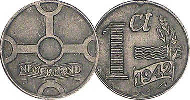 Netherlands 1 Cent  1941 to 1944