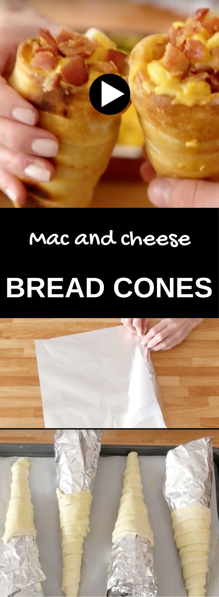 Mac and Cheese Bread Cones or Mac N' Cheese In Pizza Cones is a make-at-home version of the famous Chef Mickey's dish from Disneyland. It's definitely one of the most fun foods to make, and it only requires 3 ingredients! Make it for a surprise brunch dish, a tailgate party or a kids birthday party…