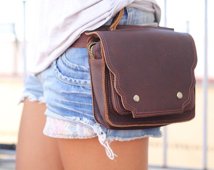 Leather Hip Bags - Happy Cow