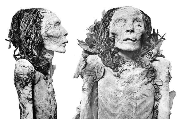 remarkably preserved body of Queen Nofretari