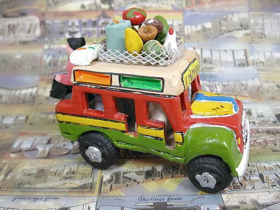 Colombian Chiva Bus South American Folk Art in Clay