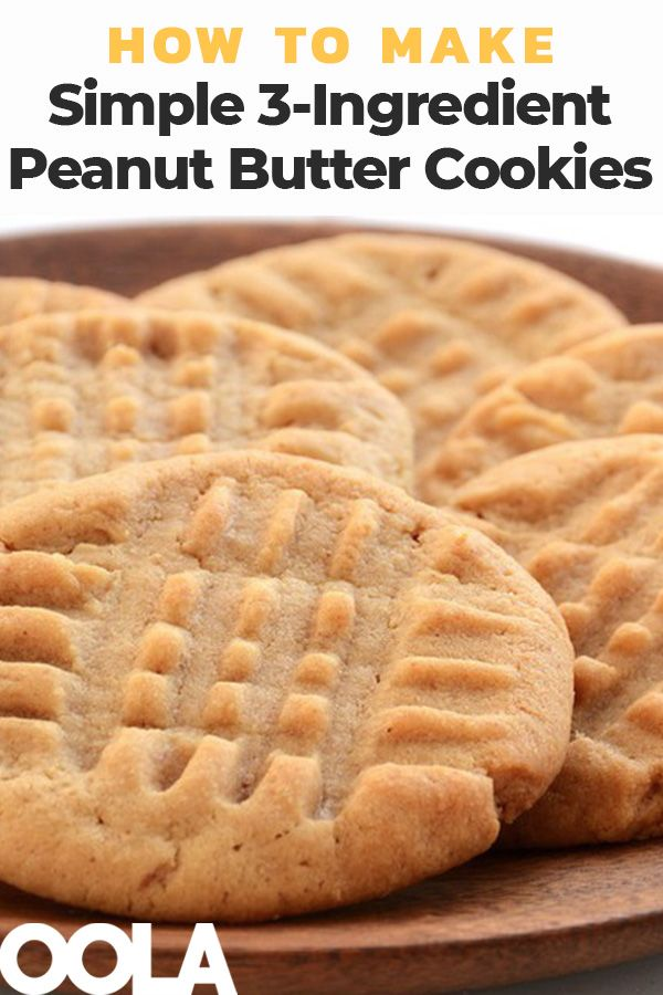 Simple 3-Ingredient Peanut Butter Cookies To Your Tastes