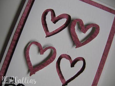 ProjectGallias:#projectgallias Valentine's day card, love and hearts. Kartka miłosna, z serduszkami, Walentynki;-)