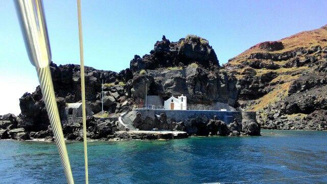 Santorini from katamaran