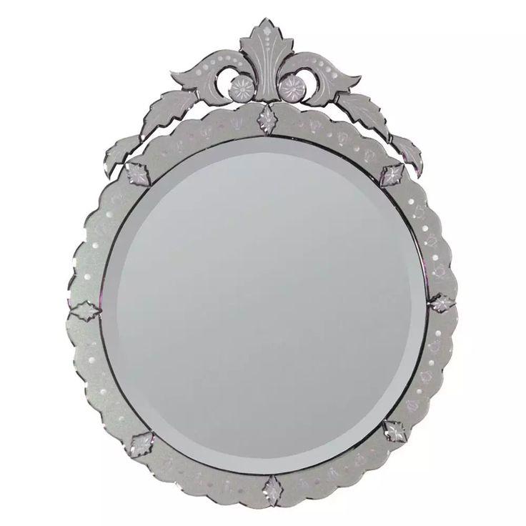Superior 34 Inch Round Mirror Part - 9: Ren Wil Ambrosi 34 Inch Circular Mirror