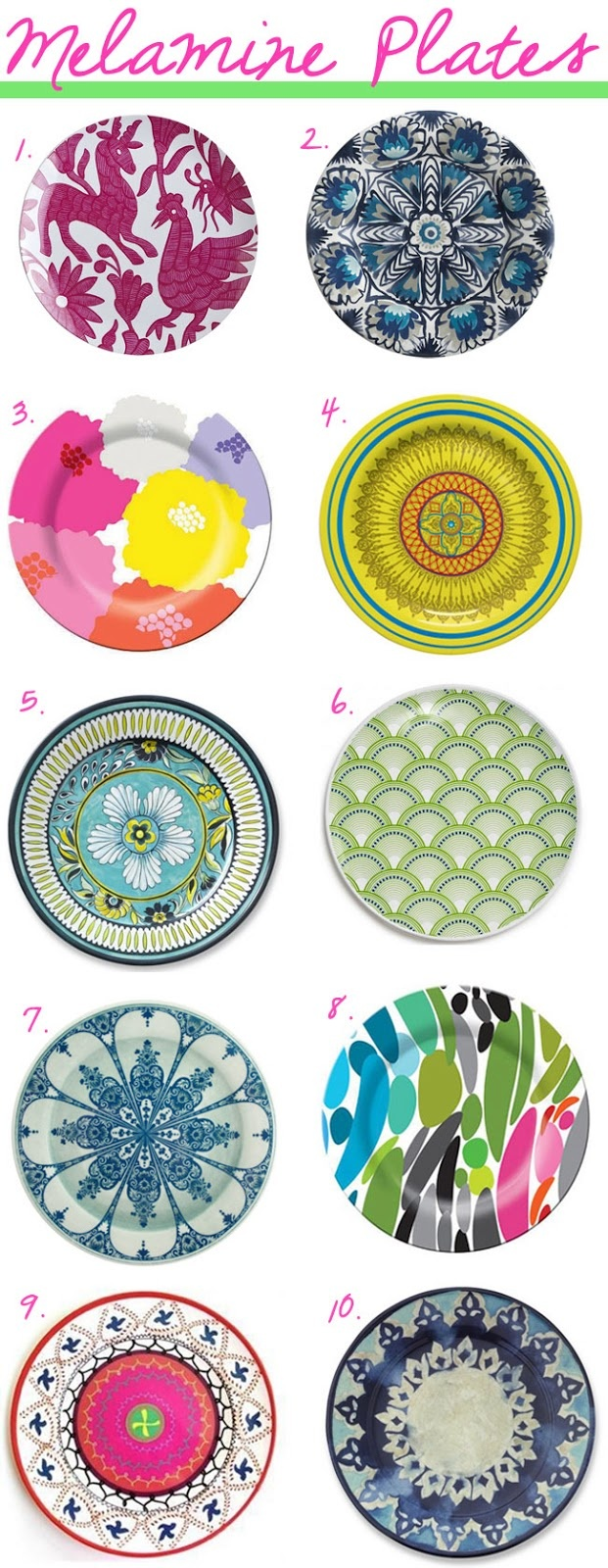 Baubles and Cocktails Our Top 10 Favorite Melamine Plates  sc 1 st  Pinterest & 100+ best Pretty Dining Plates images by Daria Anderson on Pinterest ...
