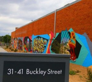31-41BuckleySt, Morwell - Among the art is a tribute to David Bowie. It's time to revisit Morwell.
